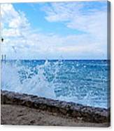 Crashing Waves In Cozumel Canvas Print