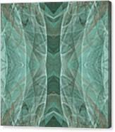 Crashing Waves Of Green 4 - Square - Abstract - Fractal Art Canvas Print