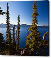 Crater Lake At Sunrise Canvas Print