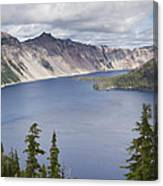 Crater Lake Or 10 Canvas Print