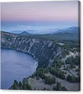 Crater Lake Sunset Canvas Print