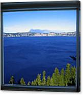 Crater Lake Through Our Window Canvas Print