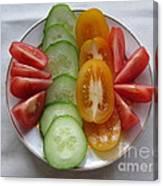 Craving For Fresh Vegetables Canvas Print