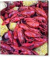 Crawfish Time In Louisiana Canvas Print