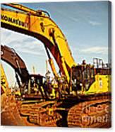 Crawler Excavator - Komatsu - Digger - Machinery Canvas Print