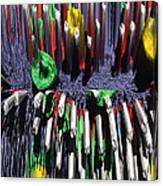 Crayon Explosion Canvas Print