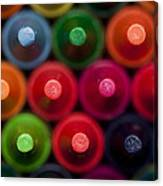 Crayon Tips 1 A Canvas Print