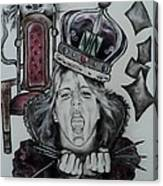 Crazy Carla Queen Of Charcoal Land Canvas Print
