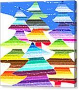 Crazy Christmas Trees Canvas Print