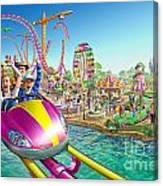 Crazy Coaster Canvas Print
