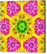 Crazy Daises - Spring Flowers - Bouquet - Gerber Daisy Wanna Be - Kaleidoscope 1 Canvas Print