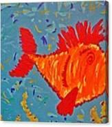 Crazy Fish Canvas Print