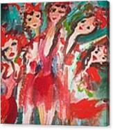 Crazy Joker Showgirls Canvas Print