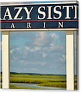 Crazy Sister Marina Canvas Print