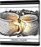 Cream And Sugar - Pottery Canvas Print