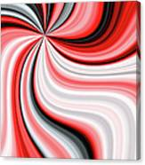 Creamy Red Graphic Canvas Print