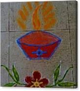 Creative Diya Rangoli Canvas Print