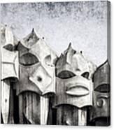 Creatures Of La Pedrera Bw Canvas Print