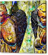 Creche Angels 5 Canvas Print
