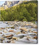 Creek And Castle Crags Canvas Print