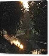 Creek Sunrise Canvas Print