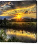 Creek Sunset Canvas Print