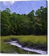 Creekside Fishing Canvas Print