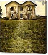 Creepy Derelict House Canvas Print