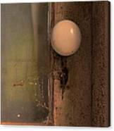 Creepy Door Knob Of Abandoned House Canvas Print