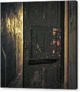 Creepy Door Canvas Print