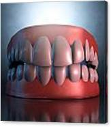 Creepy Teeth  Canvas Print
