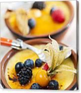 Creme Brulee Dessert Canvas Print