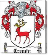 Cremin Coat Of Arms Irish Canvas Print