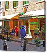 Crepes Et Fondues In Old Montreal-qc Canvas Print