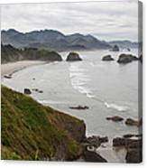 Crescent Bay At Cannon Beach Oregon Coast Canvas Print