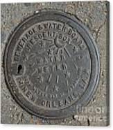 Crescent City Water Meter Canvas Print