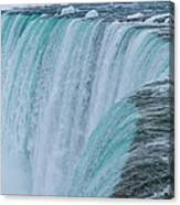 Crest Of Horseshoe Falls In Winter Canvas Print