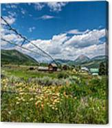 Crested Butte Farm House Canvas Print