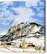 Crested Butte Mountain Canvas Print