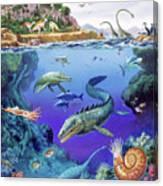 Cretaceous Period Fauna Canvas Print