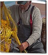 Crete Fisherman   #9348 Canvas Print