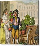 Cries Of London The Garden Pot Seller Canvas Print