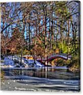Crim Dell In Winter William And Mary Canvas Print