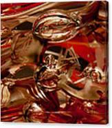 Crimson And Gray Glass Macro Ws2 Canvas Print