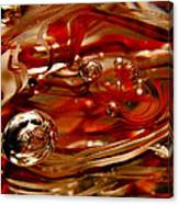 Crimson And Gray Glass Macro Ws6 Canvas Print