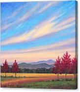 Crimson Colors Canvas Print