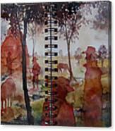 Crimson Cowboys Canvas Print