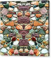 Crimson Field Stone Canvas Print