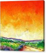 Crimson Into Lime Canvas Print