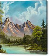 Crimson Mountains Canvas Print